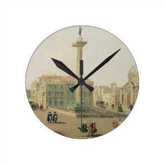 The Piazza Colonna, Rome Round Clock