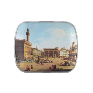 The Piazza della Signoria in Florence Jelly Belly Candy Tins