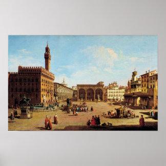 The Piazza della Signoria in Florence Poster