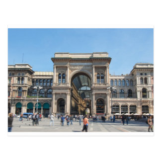 The Piazza Duomo square in Milan, Italy Postcard