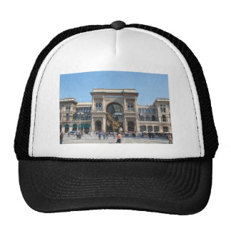 The Piazza Duomo square in Milan, Italy Trucker Hat
