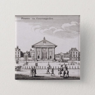 The Piazza in Covent Garden, 1647 (engraving) Button