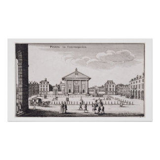 The Piazza in Covent Garden, 1647 (engraving) Poster