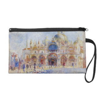 The Piazza San Marco, Venice, 1881 (oil on canvas) Wristlet Clutches