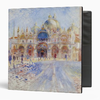 The Piazza San Marco, Venice, 1881 (oil on canvas) Vinyl Binders