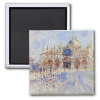 The Piazza San Marco, Venice, 1881 (oil on canvas) Magnet