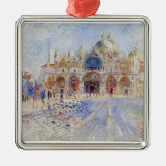 The Piazza San Marco, Venice, 1881 (oil on canvas) Christmas Tree Ornament