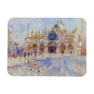 The Piazza San Marco, Venice, 1881 (oil on canvas) Flexible Magnet