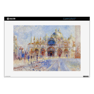 """The Piazza San Marco, Venice, 1881 (oil on canvas) 15"""" Laptop Decal"""