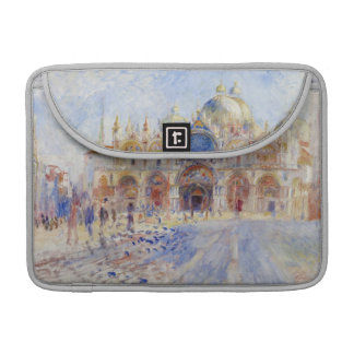 The Piazza San Marco, Venice, 1881 (oil on canvas) Sleeve For MacBook Pro