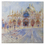 The Piazza San Marco, Venice, 1881 (oil on canvas) Large Square Tile