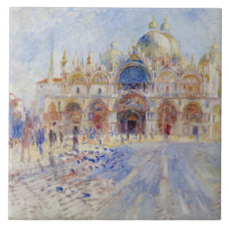 The Piazza San Marco, Venice, 1881 (oil on canvas) Tile