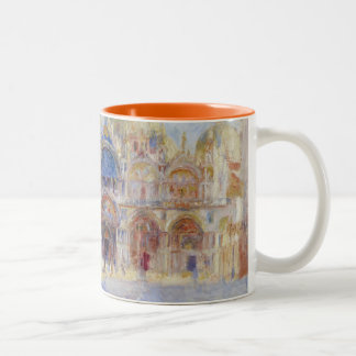 The Piazza San Marco, Venice, 1881 (oil on canvas) Two-Tone Coffee Mug