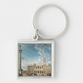 The Piazza Santa Maria Maggiore, 1752 Keychain