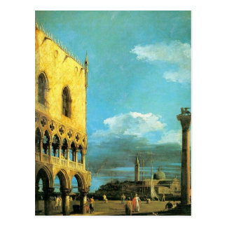 The Piazzet Looking South by Canaletto Postcard