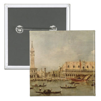The Piazzetta and the Palazzo Ducale Pinback Button