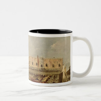 The Piazzetta and the Palazzo Ducale Two-Tone Coffee Mug
