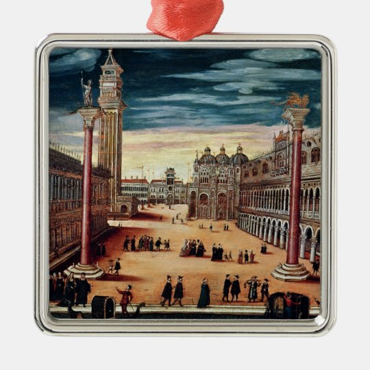 The Piazzetta di San Marco, Venice Metal Ornament