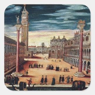 The Piazzetta di San Marco, Venice Square Sticker