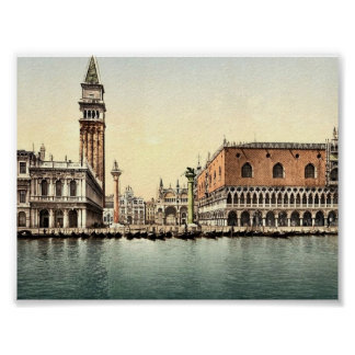 The Piazzetta Venice Italy classic Photochrom Posters