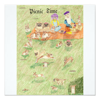 The Picnic And The Game Of Hide And Seek Card