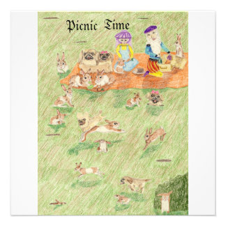 The Picnic And The Game Of Hide And Seek Personalized Invitations