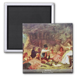 The Picnic By Spitzweg Carl Magnets