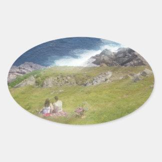 The Picnic Oval Sticker