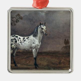 The Piebald Horse, 1653 Metal Ornament