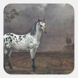 The Piebald Horse, 1653 Square Sticker