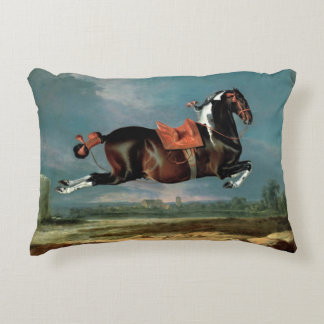 """The Piebald Horse """"Cehero' Rearing Accent Pillow"""