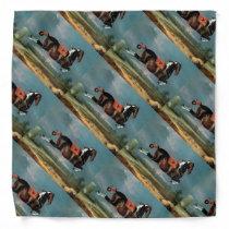 """The Piebald Horse """"Cehero' Rearing Bandana"""