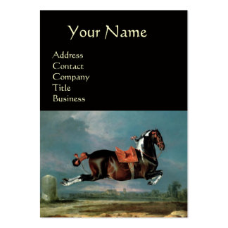 """The Piebald Horse """"Cehero' Rearing  ,black Large Business Cards (Pack Of 100)"""