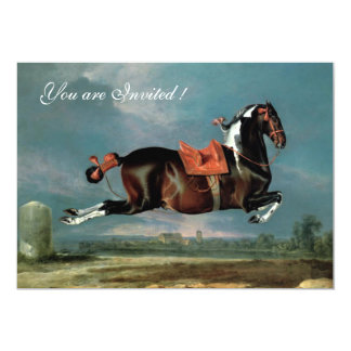 "The Piebald Horse ""Cehero' Rearing Card"
