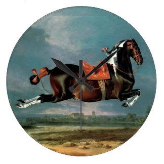 "The Piebald Horse ""Cehero' Rearing Large Clock"