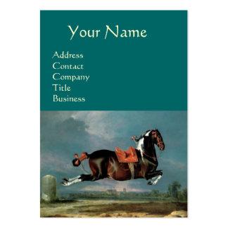 "The Piebald Horse ""Cehero' Rearing Monogram ,black Large Business Cards (Pack Of 100)"