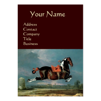 """The Piebald Horse """"Cehero' Rearing Monogram ,brown Large Business Cards (Pack Of 100)"""