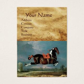 "The Piebald Horse ""Cehero' Rearing Monogram Business Card"