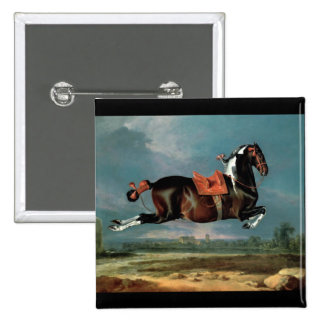 "The Piebald Horse ""Cehero' Rearing Monogram Button"