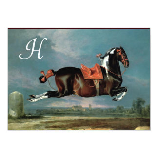 "The Piebald Horse ""Cehero' Rearing Monogram Card"