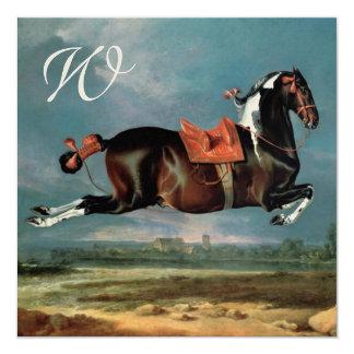 "The Piebald Horse ""Cehero' Rearing Monogram Card"