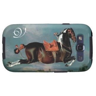 The Piebald Horse Cehero Rearing Monogram Galaxy SIII Case