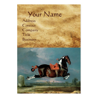 """The Piebald Horse """"Cehero' Rearing Monogram Large Business Cards (Pack Of 100)"""