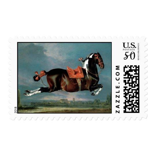 """The Piebald Horse """"Cehero' Rearing Monogram Postage"""