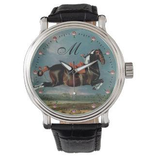"The Piebald Horse ""Cehero' Rearing Monogram Watches"