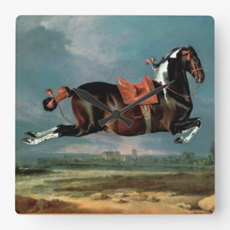 "The Piebald Horse ""Cehero' Rearing Square Wall Clock"