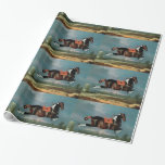 "The Piebald Horse ""Cehero' Rearing Gift Wrapping Paper"
