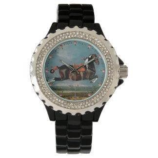 "The Piebald Horse ""Cehero' Rearing Wristwatches"