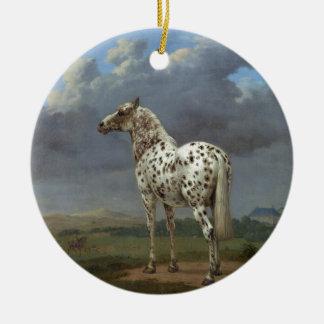 The Piebald Horse Ceramic Ornament