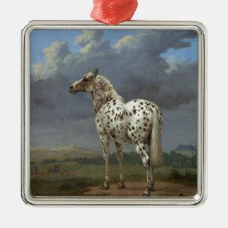 The Piebald Horse Metal Ornament